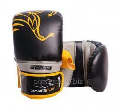 Снарядные перчатки PowerPlay 3038 черно-желтые XL