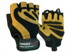Перчатки для фитнеса PowerPlay 1584 черно-Коричневі L