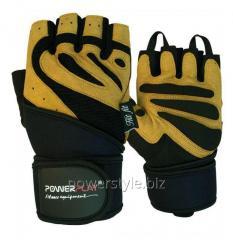 Перчатки для фитнеса PowerPlay 1063 B черно-Коричневі S
