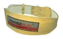 Пояс для тяжелой атлетики PowerPlay 5084 светло коричневый S