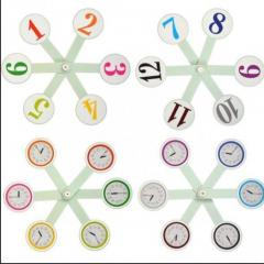 Віяло годинників та чисел