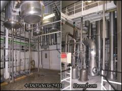 Vacuum-evaporator installation of 12000 kg/h of