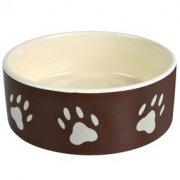 Bowl ceramic with pads brown 0.3l/12sm