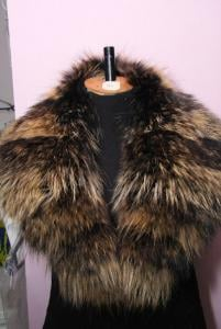 Products from natural fur. Collars