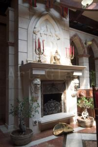Classical fireplaces from a natural stone