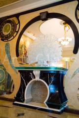 Decorative panels from glass, marble, granite, onyx, decorative panels with illumination