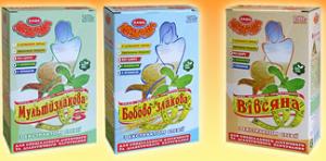 Organic food (EKO products) by means of porridges