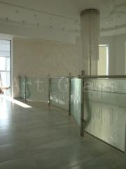 Handrail, protections decorative of glass and metal