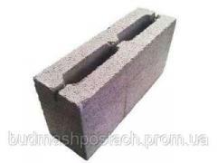 Шлакоблок перегородочный м50 (90х190х390)