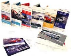 Brochures, printing of brochures, production of