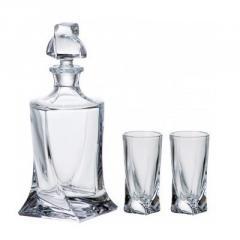 Штоф для водки + 6рюмок Bon.Quadro