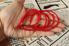 Браслет красная нитка 19+5 см
