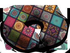 Подушка дорожная с рисунком