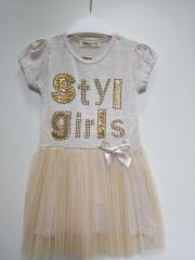Платье-пачка детское с юбкой фатиновой р 110
