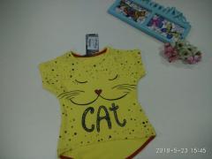 """Футболка на девочку """"Кошка"""" 116-122"""