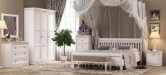 Спальня 4 Марсель Мебус белая