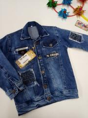 Куртка детская джинсовая на мальчика,