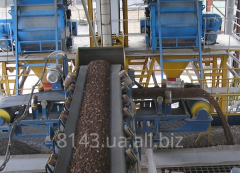 System of loading conveyor inert materials