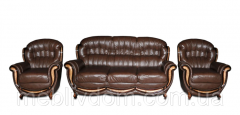 Комплект мягкой мебели Джове (кожа) Курьер