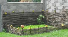 Wattled flower bed