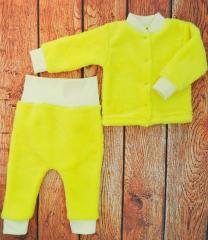 Детский махровый костюм для девочки то 0 до 1