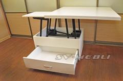 Стол журнальный трансформер с ящиком
