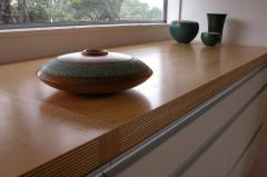 Window sill from the massif of natural wood