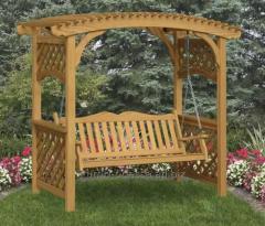 Качели деревянные садовые от производства