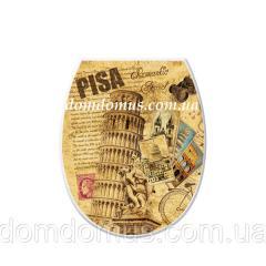 """Сиденье для унитаза с рисунком """"Pisa"""""""