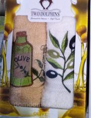 Кухонные махровые полотенца 30*50 см