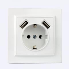 ElectroHouse Розетка USB двойная + розетка с\з