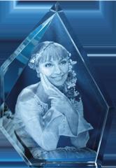 3Д фотография внутри стекла оригинальный подарок