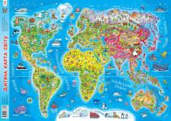 Дитяча мапа світу / Детская карта мира
