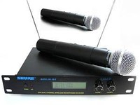 Microphone, SHURE SM58 Radiomicrophone. Vocal