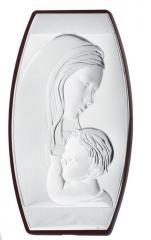 """Икона серебряная """"Мария с младенцем"""" в"""