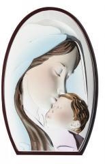 """Серебряная икона """"Мария с младенцем"""" в"""