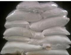 Table salt (rock salt) packaged in bags on 50 kg