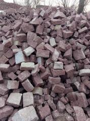 Камень бутовый (бут заборный) красный лезники