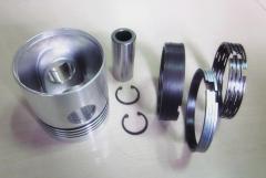 Piston rings of a sleeve pistons