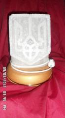 Lamp salt Coat of arms of Ukraine
