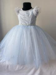 Детское атласное платье кораллового цвета