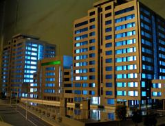 The model is arkhtekturny, the building model, the