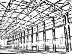 Construction of buildings from a metalwork,