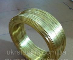 Латунная проволока ф 2.0 мм Л63, ЛС59 п/т, тв.,