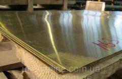 Латунный лист 2.5х600х1500 мм Л63, ЛС59