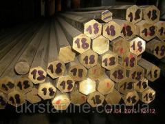 Латунный шестигранник 36