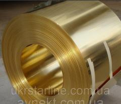 Лента латунная 0,8х106 мм Л63 твёрдая, мягкая