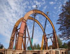 Arches from a metalwork, Kirovohrad, Svetlovodsk,
