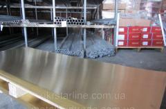 Лист латунный Л63 10х600х1500 мм