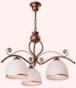Retro chandelier brown color